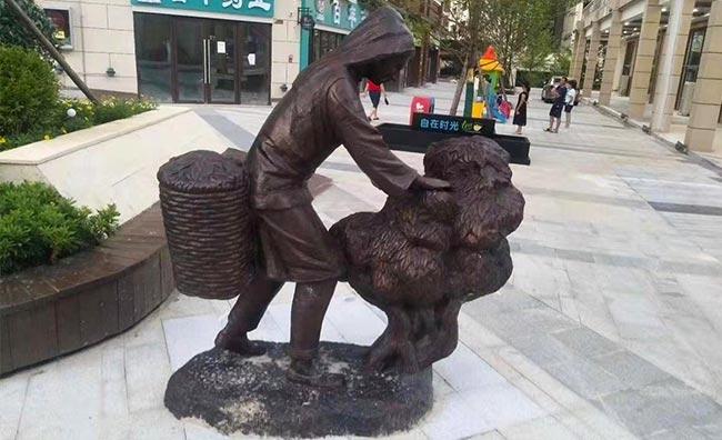 城市铸铜雕塑