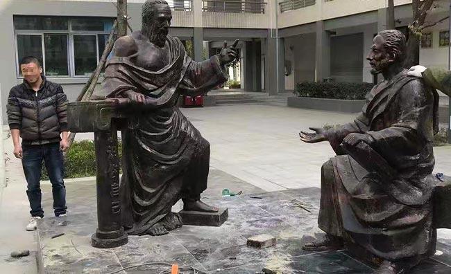 学校铸铜雕塑制作